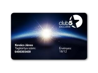 Exkluzív Club5* kártya Top Shop