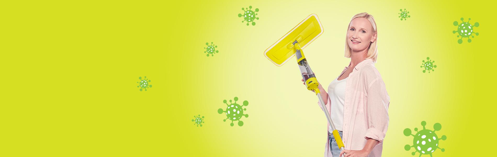 Spray felmosó szett Eco fertőtlenítő rendszerrel